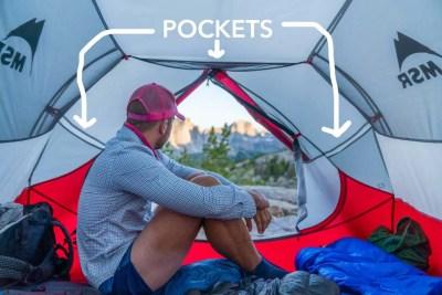 MSR Mutha Hubba NX Tent Pockets