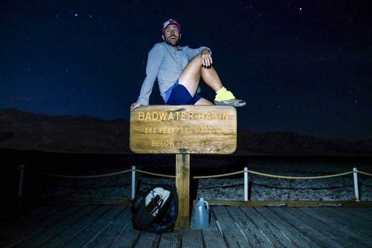 Lowest to Highest Route Badwater Basin