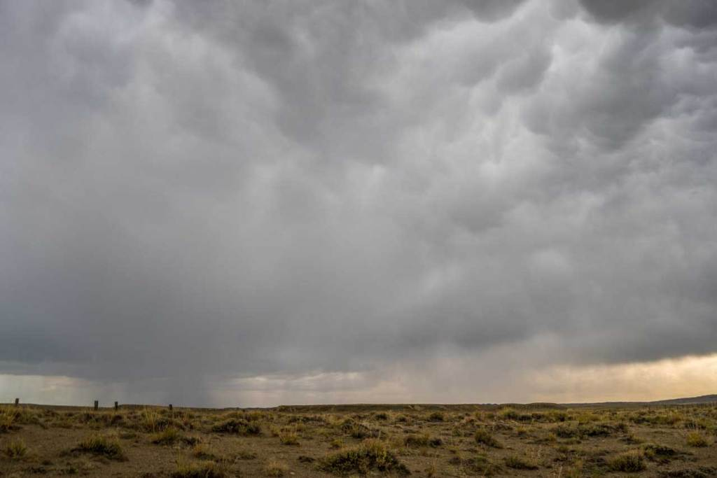 A thunderstorm in Wyoming's Great Basin