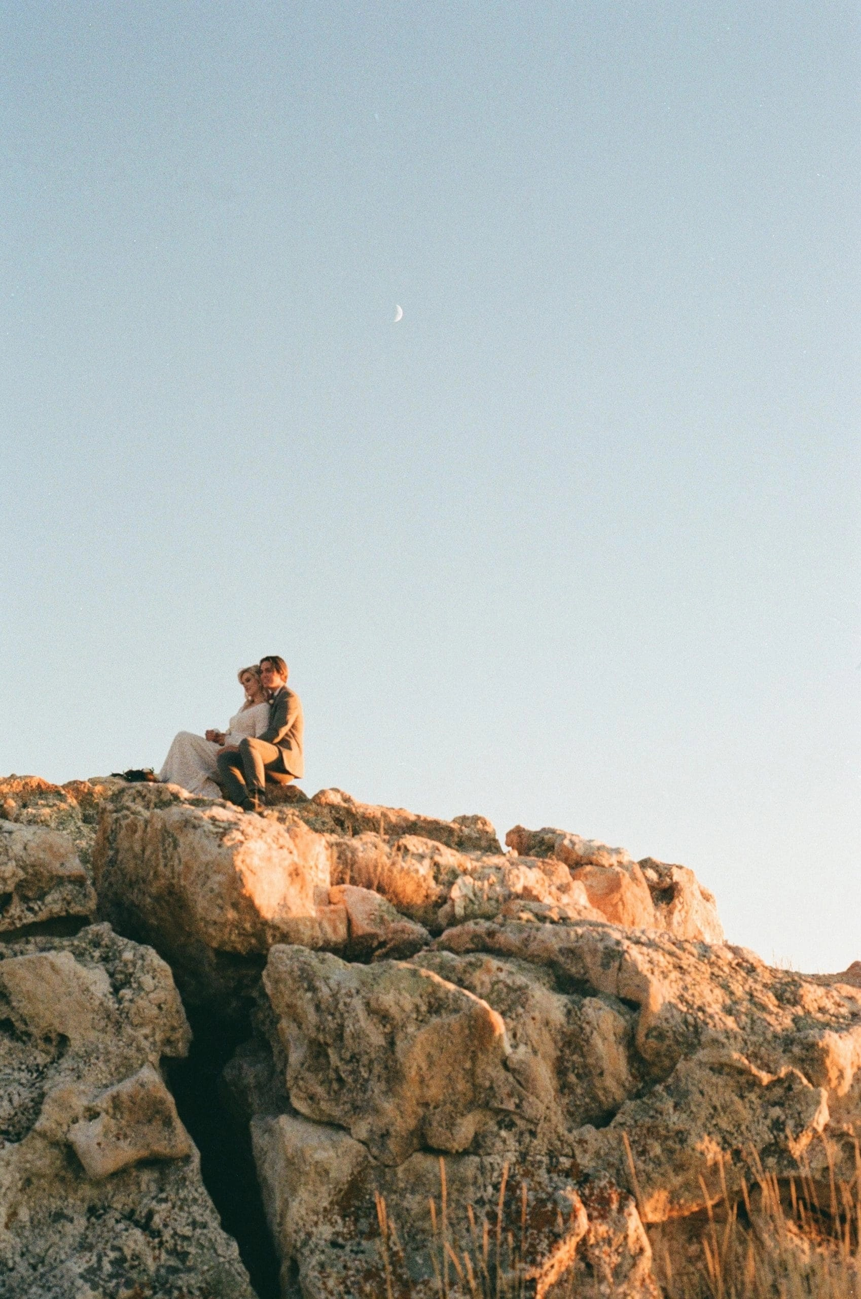 sitting under the moon on film