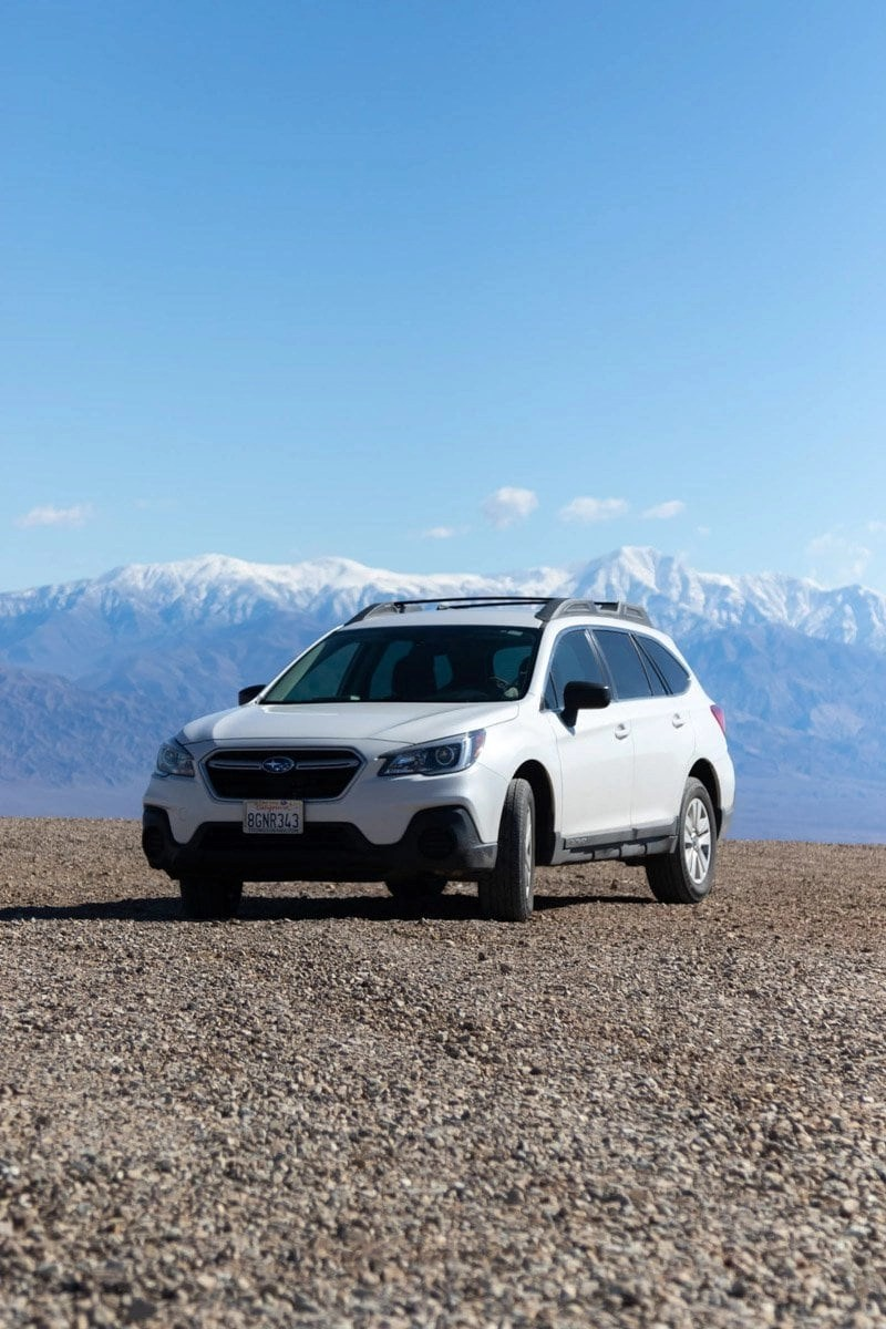 subaru in the eastern sierras