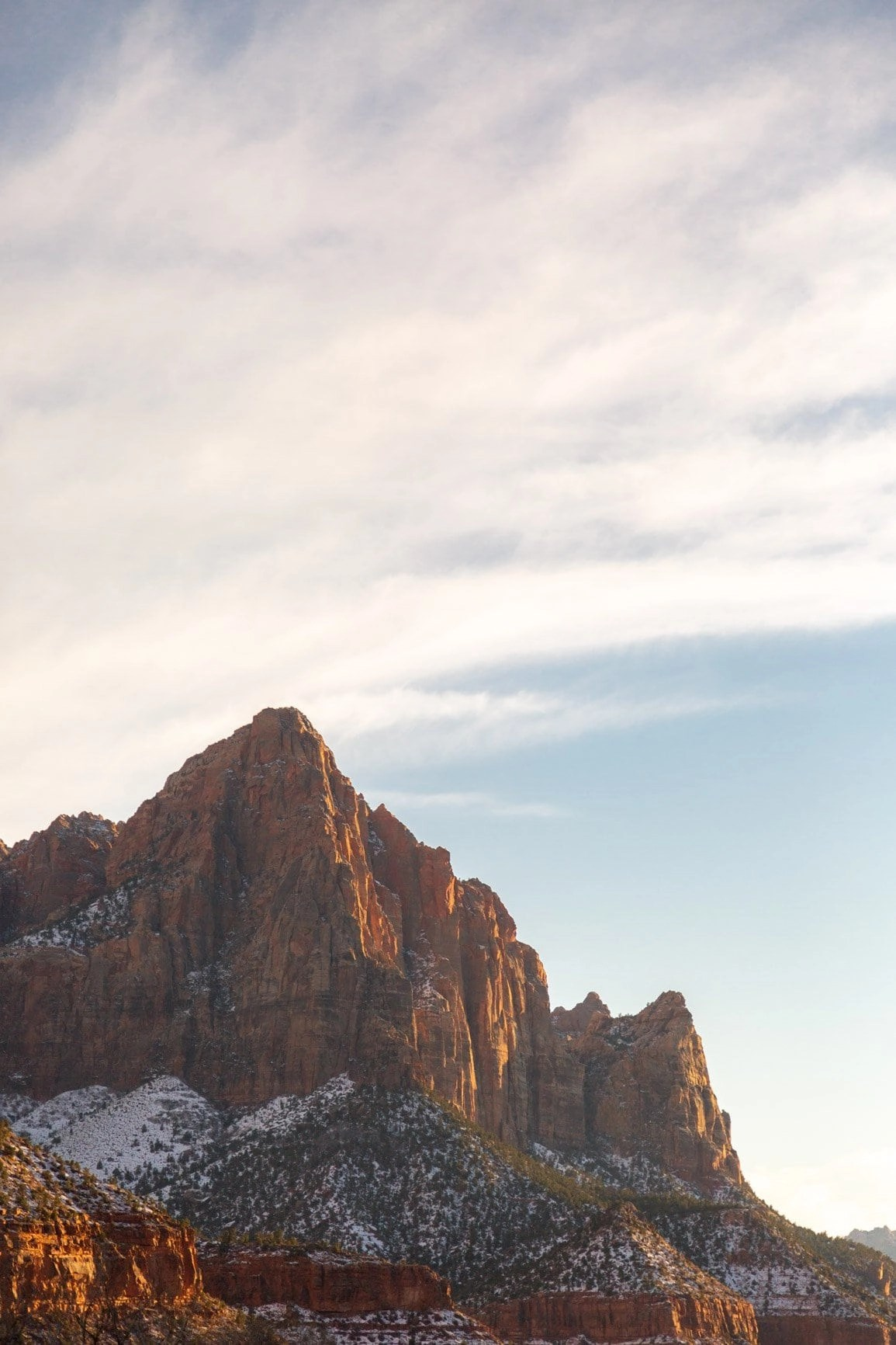 wasatch tower in the zion elopement guide