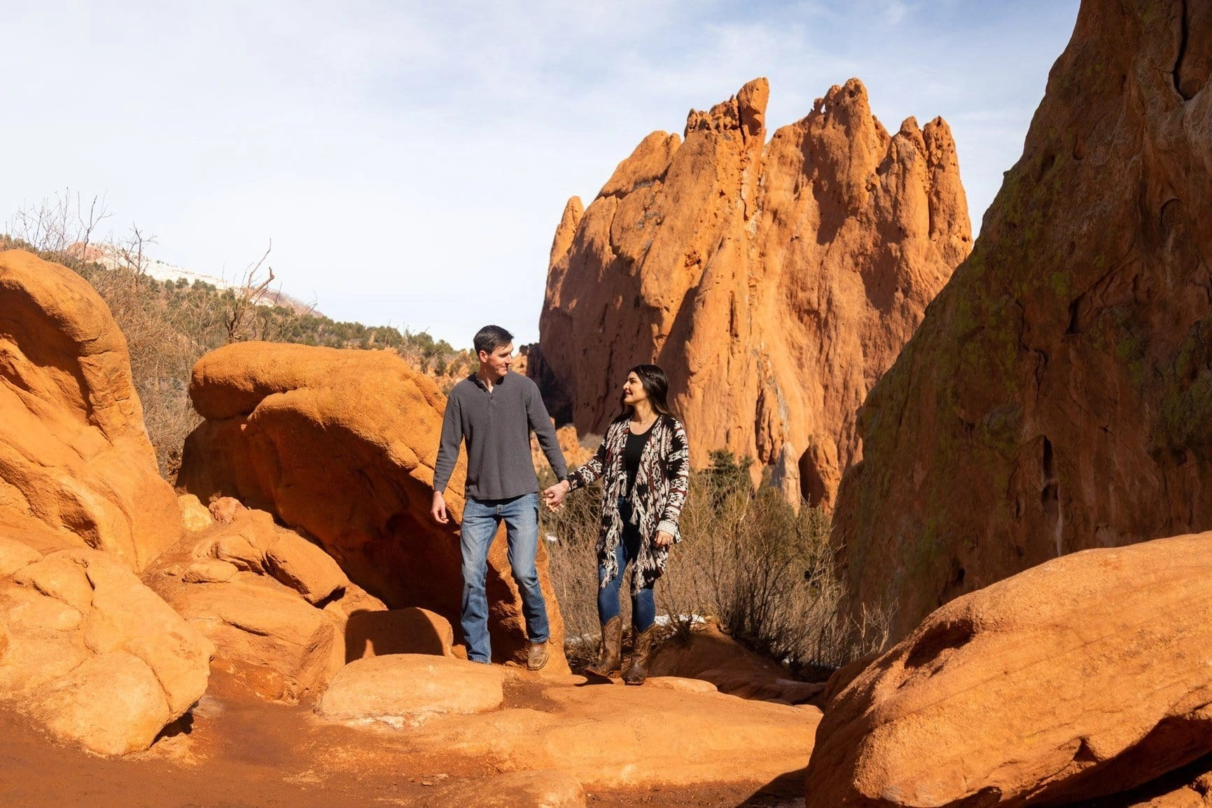 adventure session in Garden of the Gods