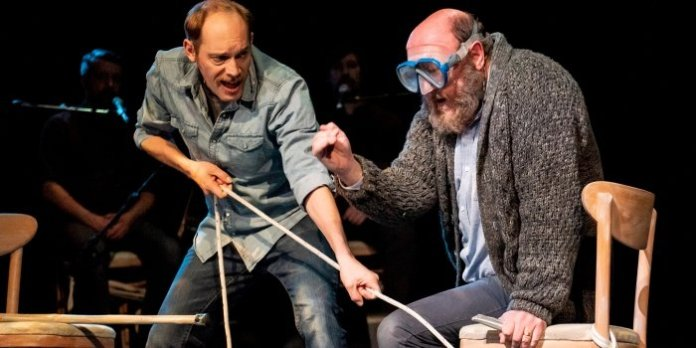 Darrell Hopkins and Steve O'Connell in the Neptune Theatre presentation of Artistic Fraud of Newfoundland's production of Between Breaths. Photo by Stoo Metz.