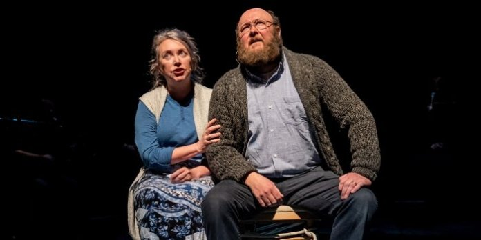 Bernie Stapleton and Steve O'Connell in the Artistic Fraud of Newfoundland production of Between Breaths. Photo by Stoo Metz.