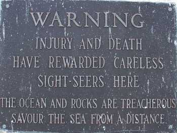 """Ravina's show takes its title from a sign on the lighthouse at Peggy's Cove, warning of injury and death to careless sightseers. """"I've always liked the poetry of that dire threat, so I adopted it as my Twitter handle, and it seemed even more apropos since we're doing everything from a distance now,"""" says Ravina. Photo by Tony Webster used under the Creative Commons Attribution-Share Alike 2.0 Generic license."""