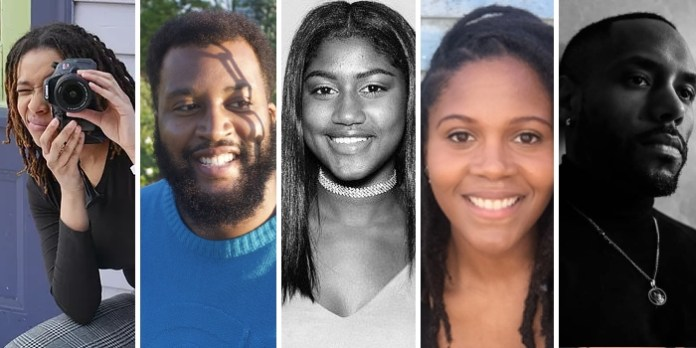 Halifax emerging filmmakers Lily Nottage, Andre Anderson, Kardeisha Provo, Kirsten Olivia Taylor and Tyler Simmonds (photo above) are part of the 2020 Being Black in Canada Program sponsored by The Fabienne Colas Foundation.