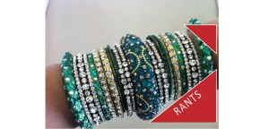 Blingy green bangles