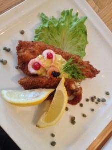 An open sandwich of fish seafood in Reykjavic