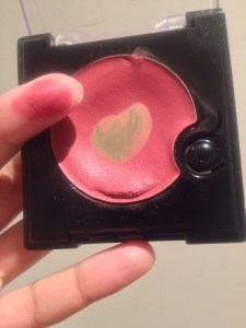 apply cream blush with your finger