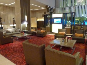 The lobby at the Eastin Hotel Bangkok
