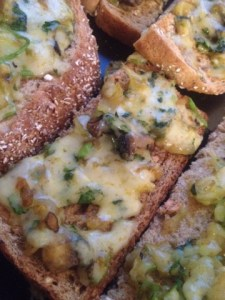 spicy cheese on toast