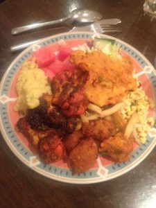 A plateful of food for iftar