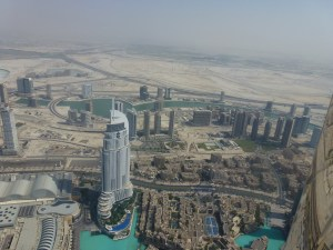 The view from the Burj Khalifa