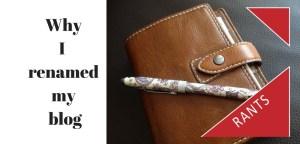 Filofax diary and pen