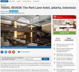 Park Lane Jakarta hotel review article