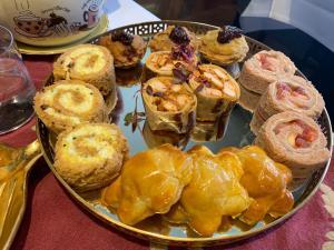 Chicken tikka rolls, paneer pastry egg sandwiches