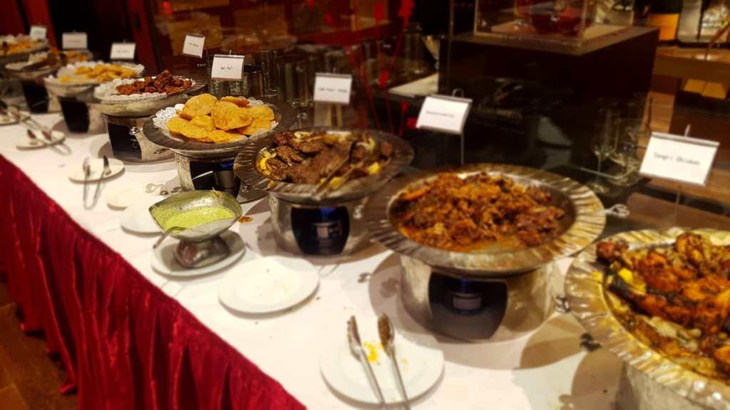 The Vermillion Manchester Halal buffet