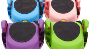 CarGoSeat in pink, green, blue and purple