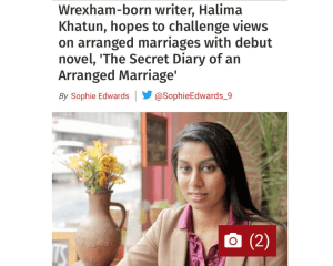 The Secret Diary of an Arranged Marriage in Wrexham Leader live
