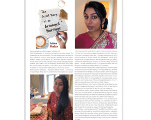 Media coverage in Asisn Life magazine for the Secret Diary of an Arranfed Marriage in Asian Life