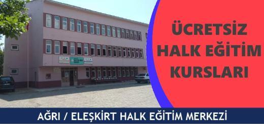 AĞRI-ELEŞKİRT-Halk-Eğitim-Merkezi-Kursları