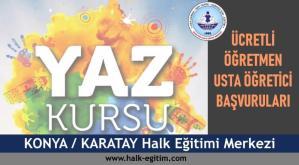 KONYA-KARATAY-Halk-Eğitim-Merkezi-Yaz-Dönemi-Ücretli-Öğretmen-Usta-Öğretici-Başvuruları