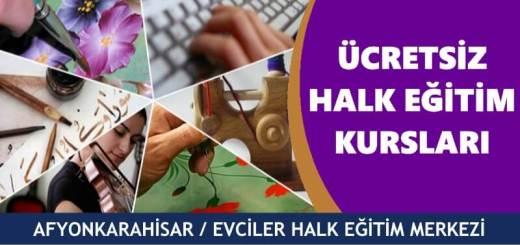 AFYONKARAHİSAR-EVCİLER-Halk-Eğitim-Merkezi-Kursları