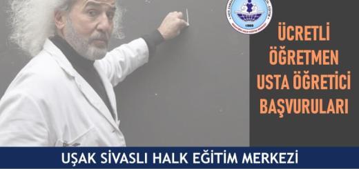UŞAK-SİVASLI-Halk-Eğitim-Merkezi-Ücretli-Öğretmen-Usta-Öğretici-Başvuruları