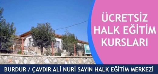 BURDUR-Çavdır-Ali-Nuri-Sayın-Halk-Eğitim-Merkezi-Kursları