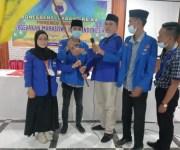 Riza Ansyari Ketua PC PMII Langkat Binjai dan Desi Winda Sari Ketua Kopri PC PMII