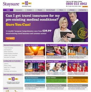 Staysure insurance fined for failing to have any security policies.