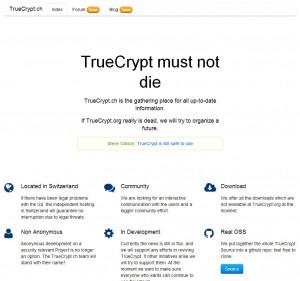 Download Truecrypt at Truecrypt.ch