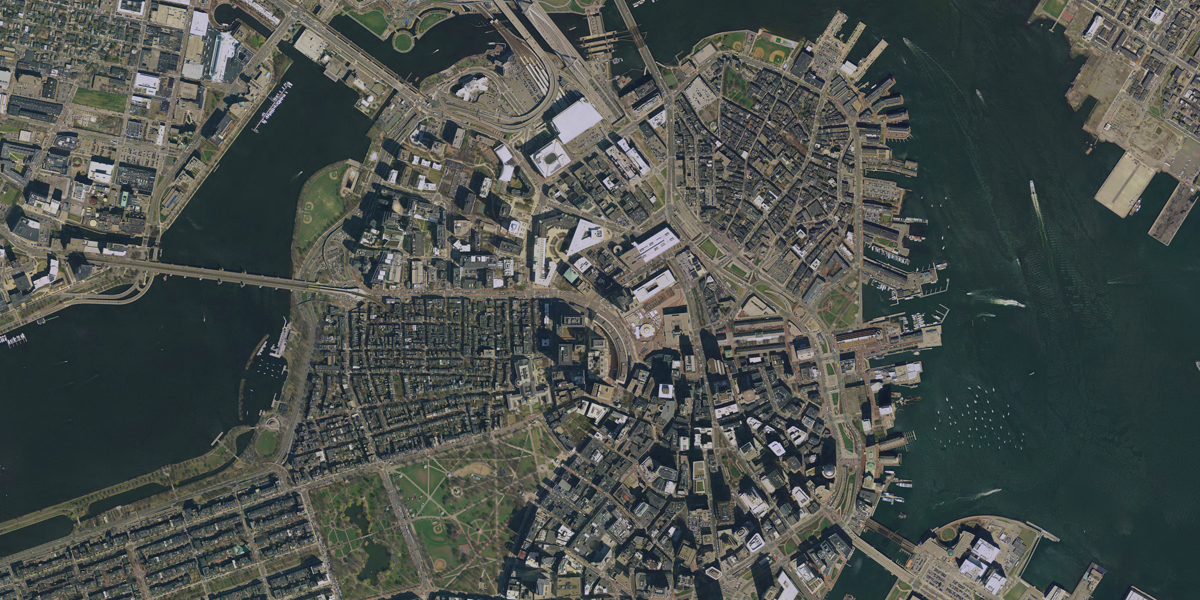 Generating Realistic Satellite Imagery with Deep Neural Networks     map plus a satellite image of Boston