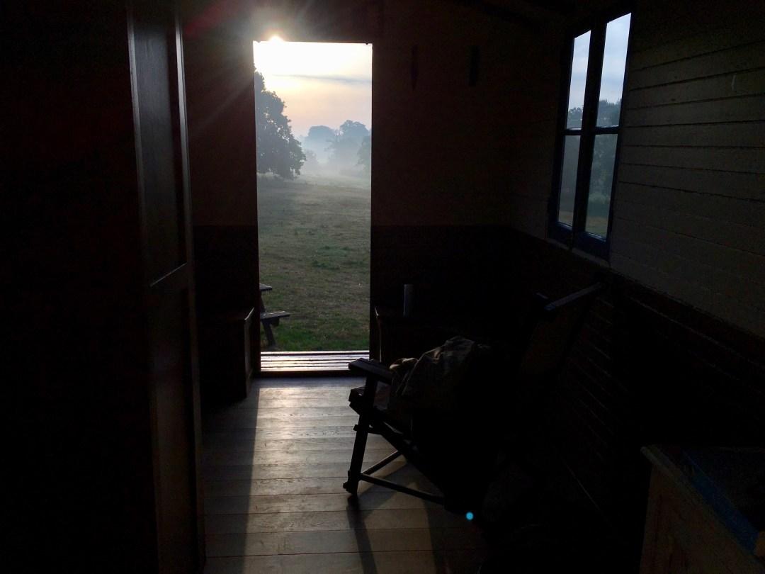 shepherd's hut view