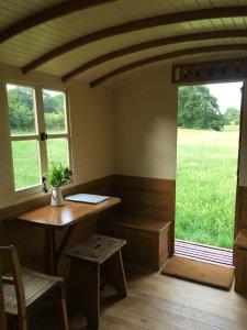 View from the Shepherd's Hut window