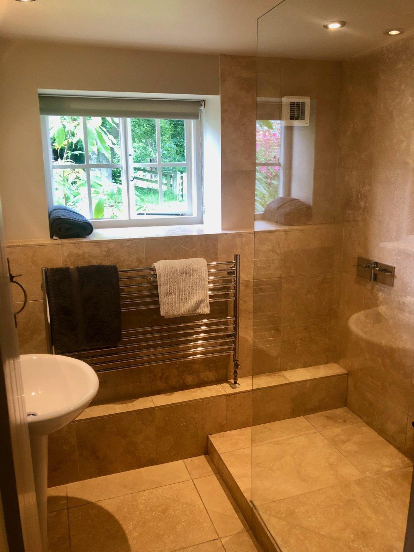 Shepherd's Hut Bathroom Walk in Shower