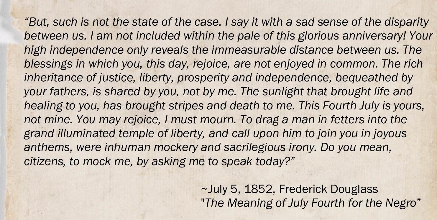 Frederick Douglass speech quote