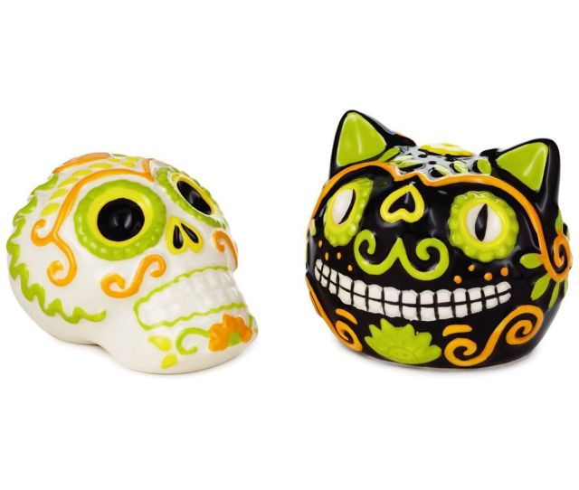 Day Of The Dead Ceramic Salt And Pepper Shakers Set Of  Gifts