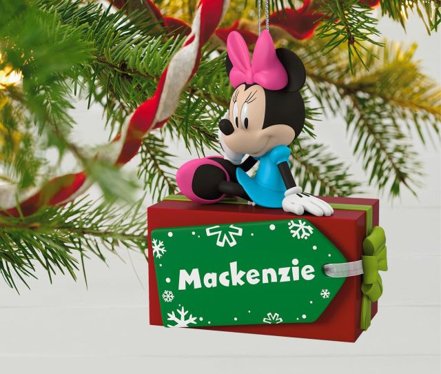 Disney Minnie Mouse Christmas Present Personalized Ornament