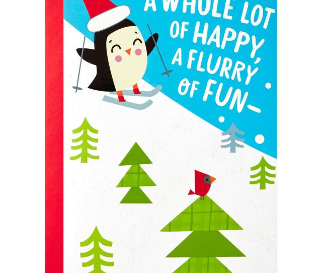 Flurry Of Fun Christmas Card