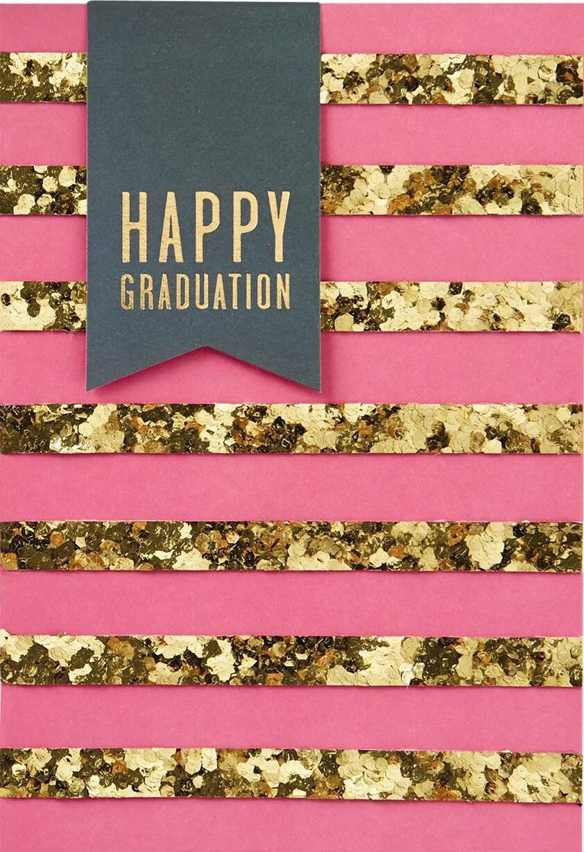 Gold Stripes Happy Graduation Card Greeting Cards Hallmark