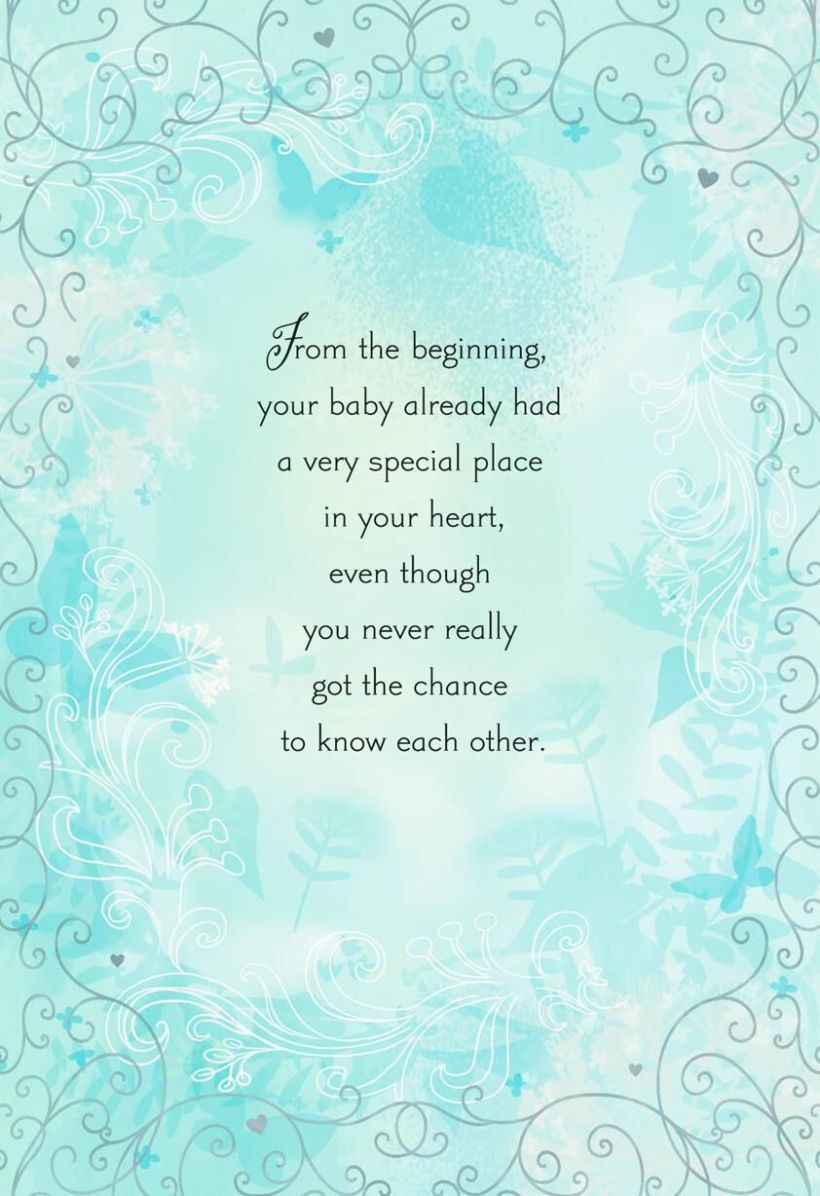 Words for sympathy card loss of baby cardss place in your heart loss of baby sympathy card greeting cards m4hsunfo