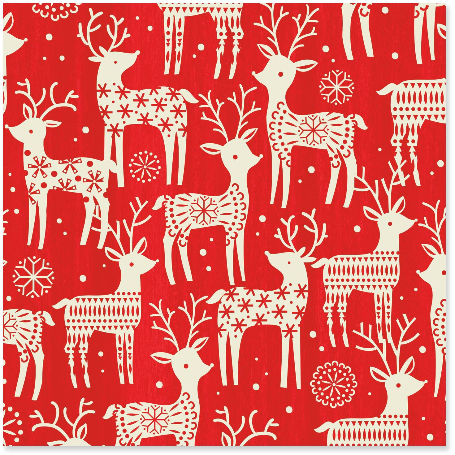 Reindeer Jumbo Christmas Wrapping Paper Roll 100 Sq Ft
