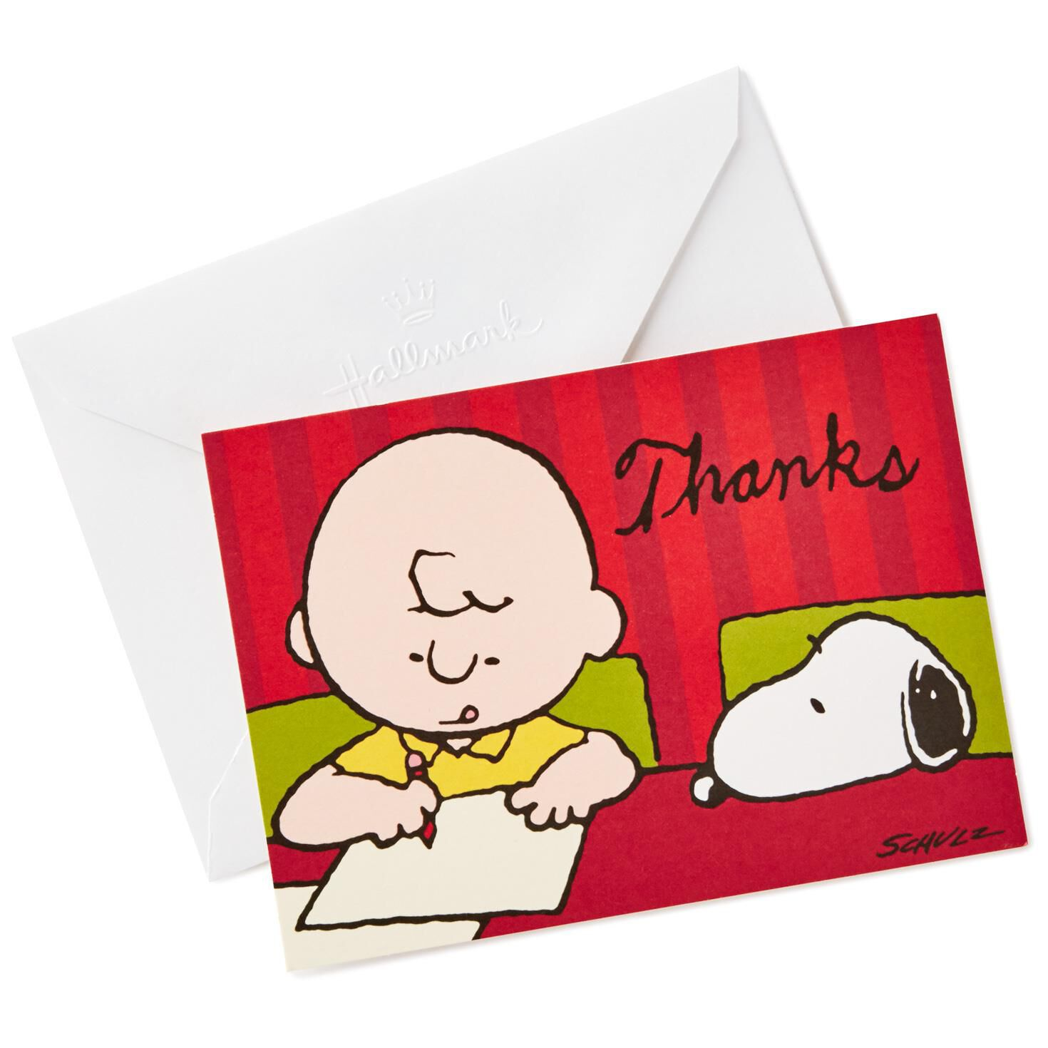 Peanuts Charlie Brown And Snoopy Blank Thank You Notes