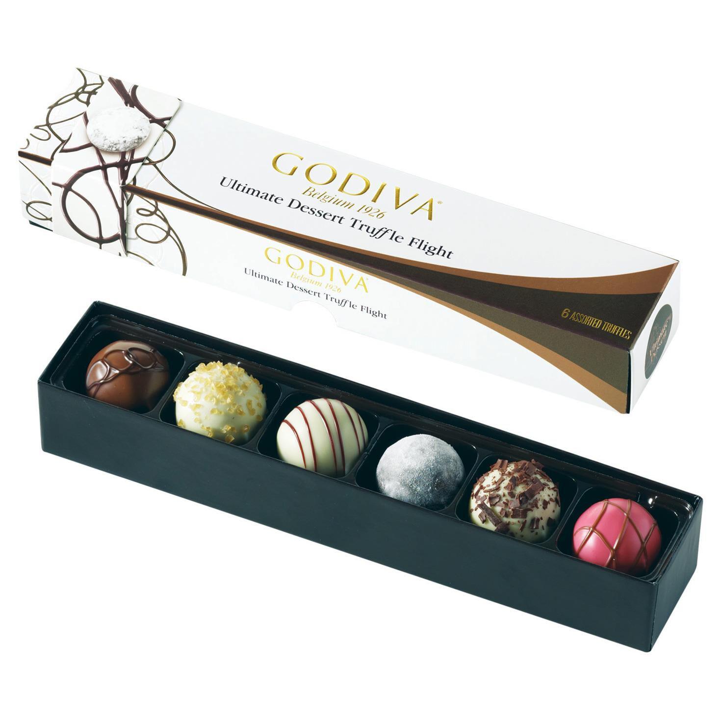 Godiva Chocolatier Ultimate Dessert Truffle Flight In Box