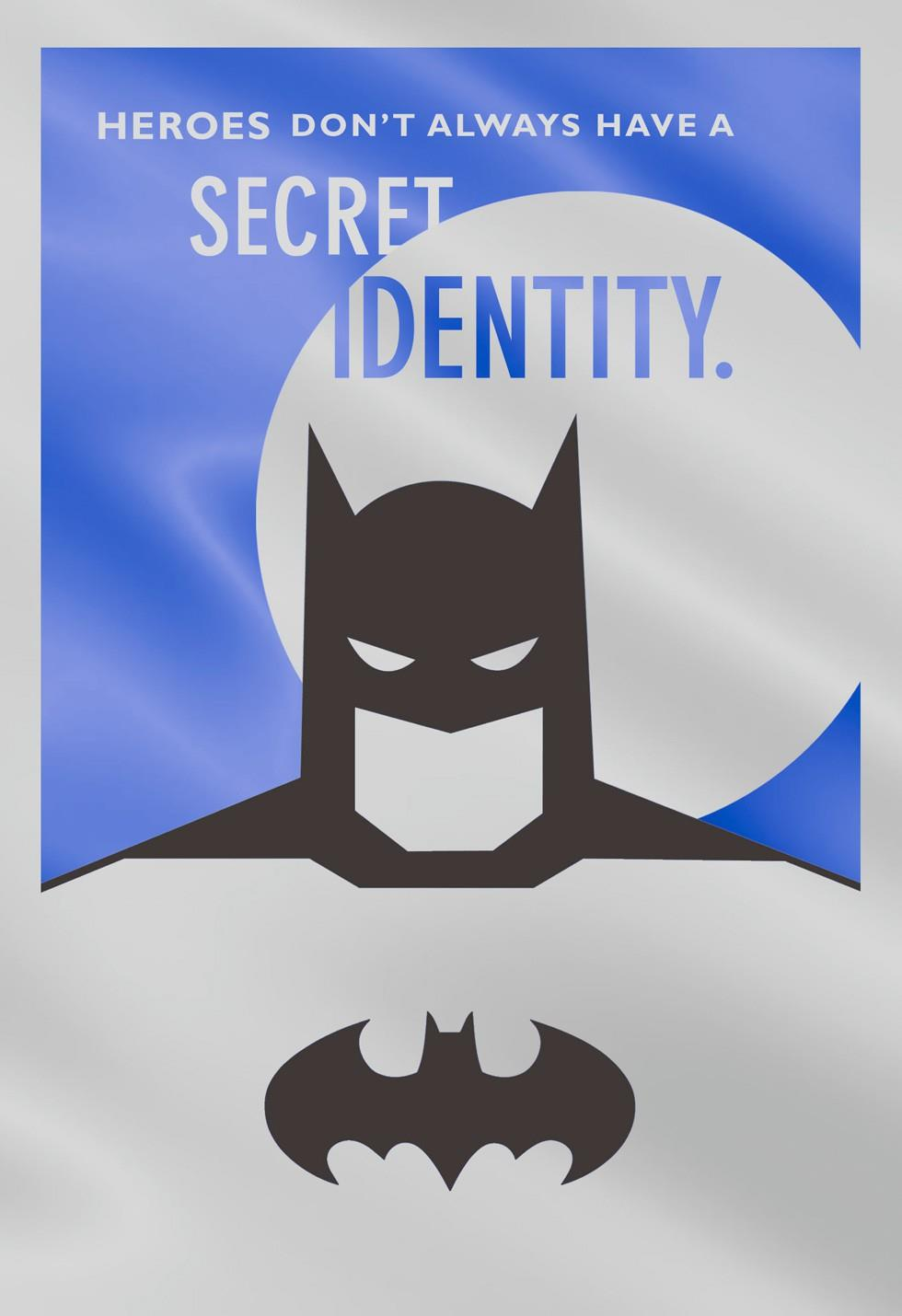 Secret Identity Batman Fathers Day Card Greeting Cards