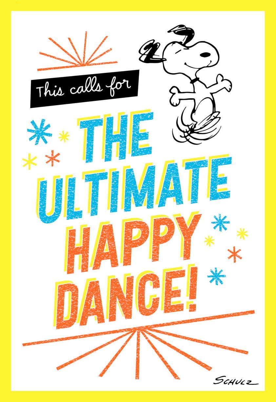 Peanuts Snoopy Happy Dance Congratulations Card