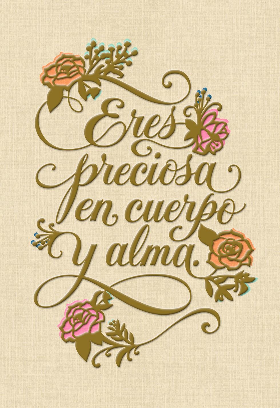 To My Precious Wife Spanish Language Birthday Card