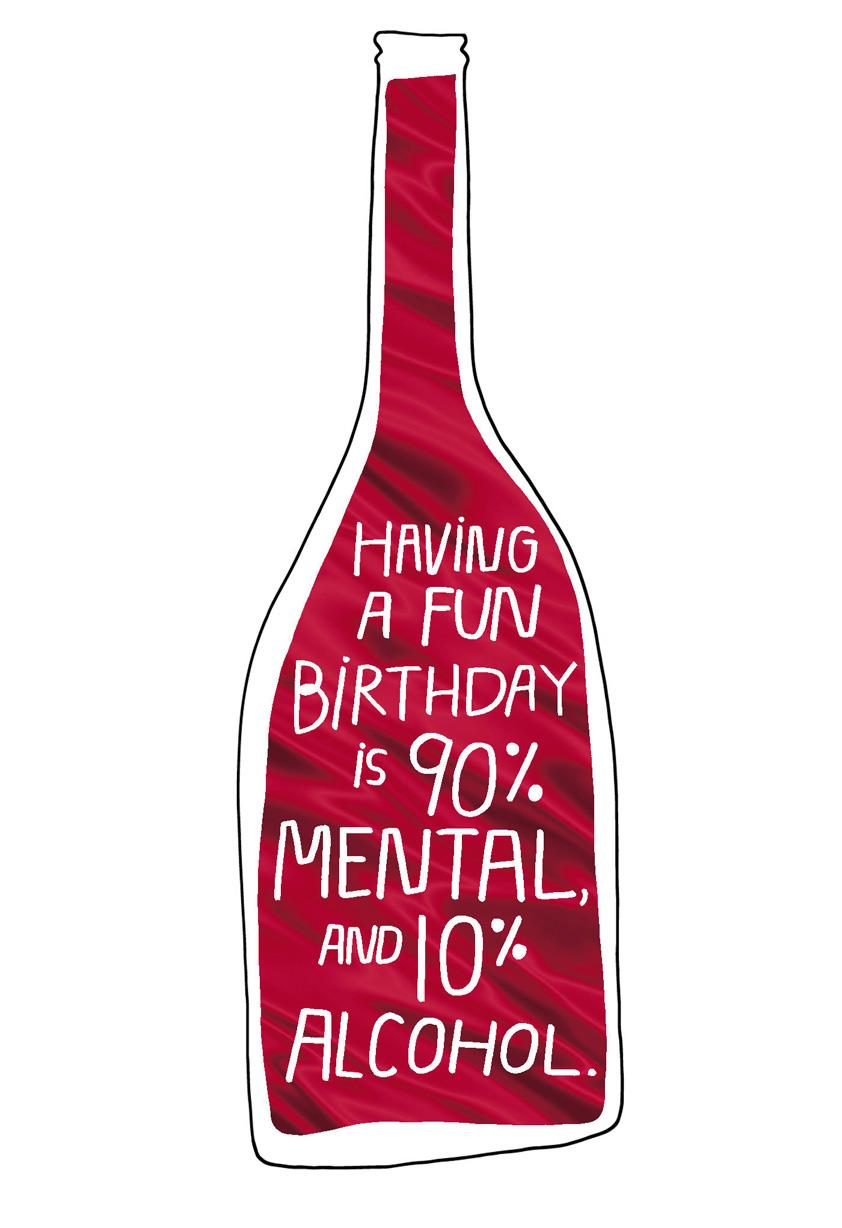 Attitude Or Alcohol Funny Birthday Card Greeting Cards